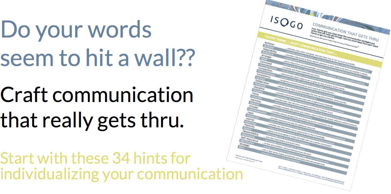 StrengthsFinder Communication Resource