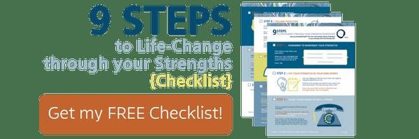 StrengthsFinder 9 Steps checklist ad
