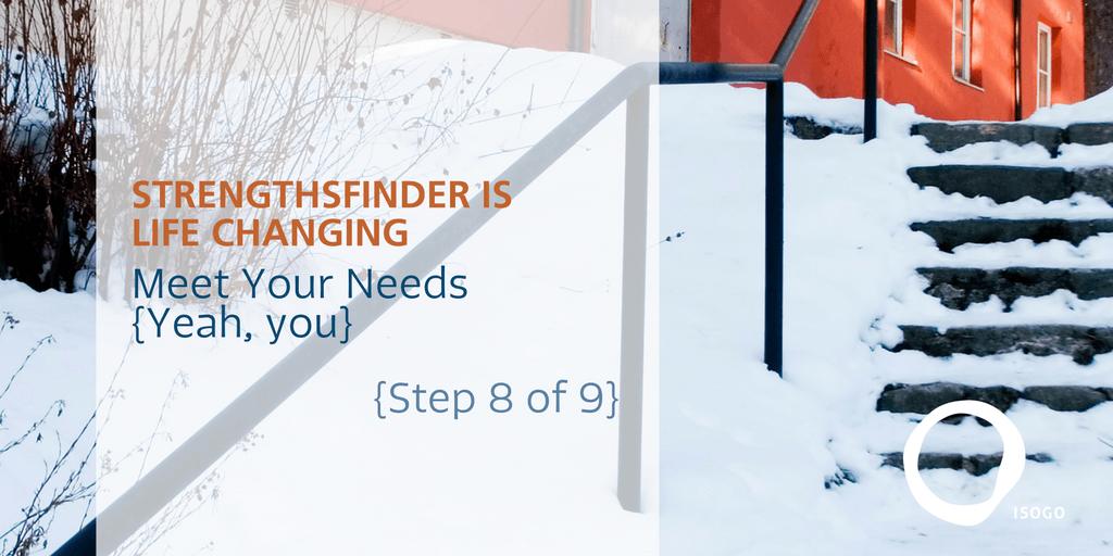 StrengthsFinder Step 8 Feature