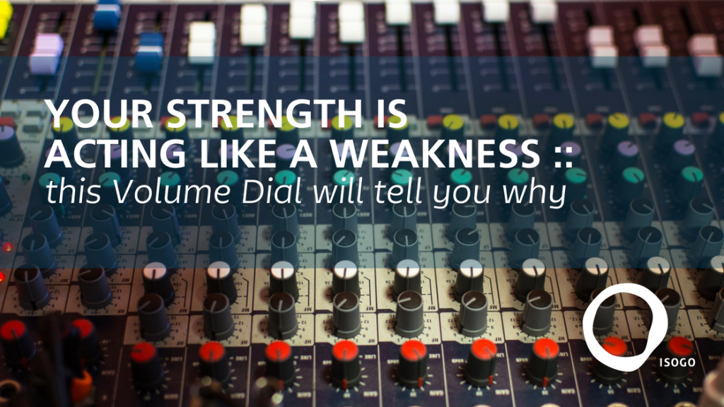 strengths finder weakness volume dial