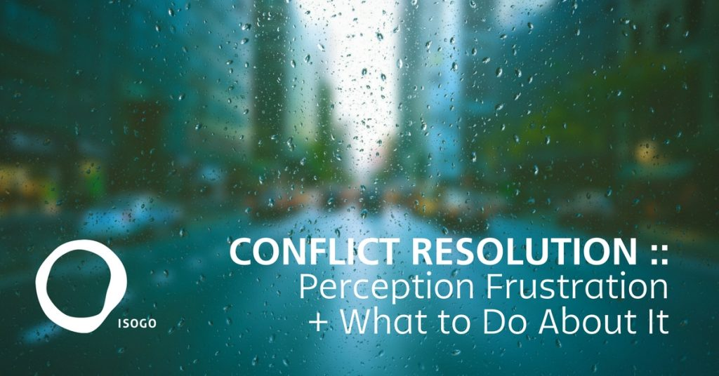Conflict Resolution Perception Frustration