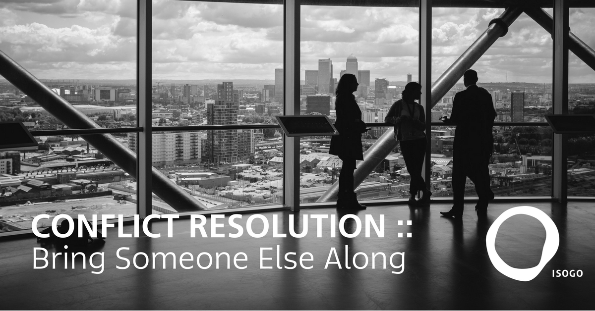 Conflict Resolution :: Bring Someone Else Along