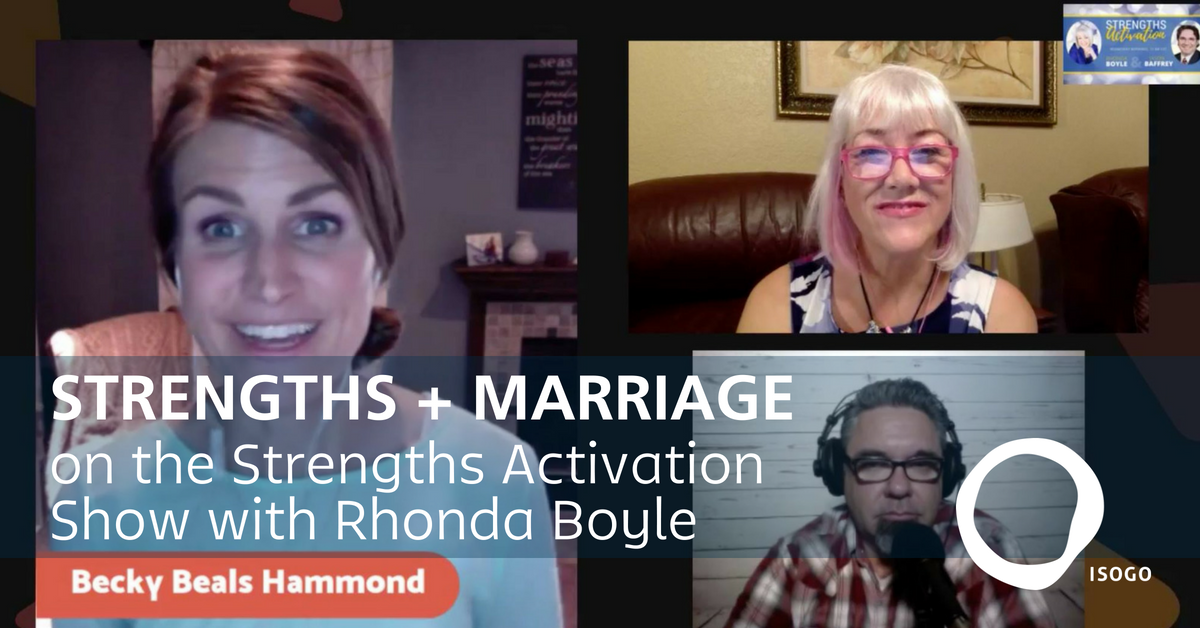 Strengths + Marriage on the Strengths Activation Show with Rhonda Boyle